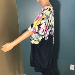 Lane Bryant Tops - Lane Bryant floral print top cold shoulder 26 / 28